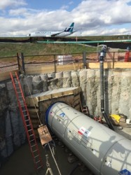 Microtunneling Project under Toronto's Pearson International Airport