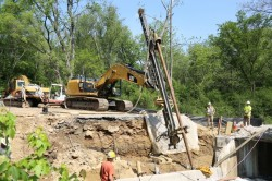 Micropile project in Northern Baltimore County