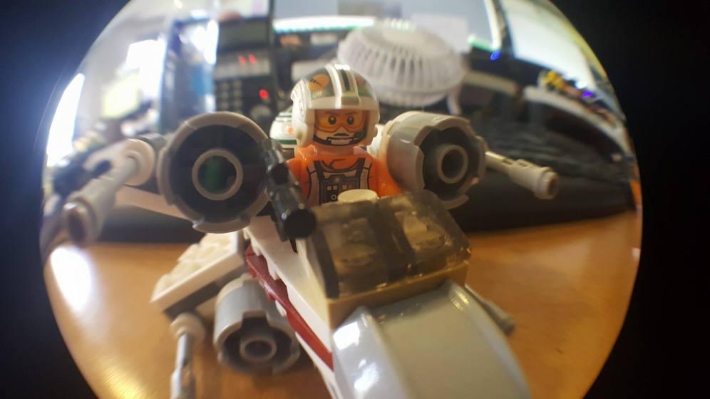 Rear Camera - Lego Luke Skywalker in his X-Wing