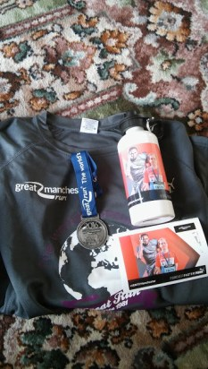 My t-shirt and medal, as well as some gifts from Puma!
