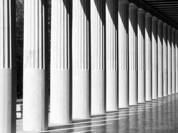 Die Säulen der Attalos-Stoá