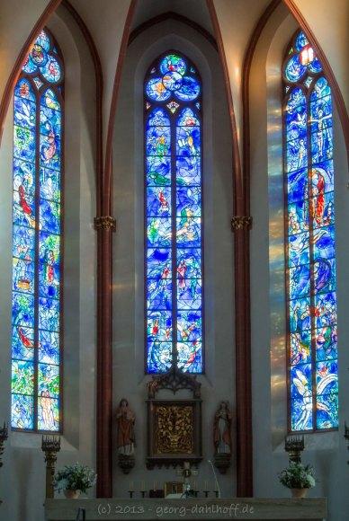 Chagall-Fenster in St. Stephan zu Mainz - Bild Nr. 201301120012