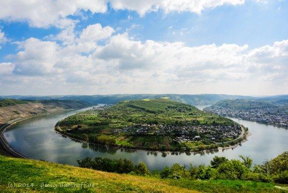 Die Rheinschleife bei Boppard - Bild Nr. 201404132861