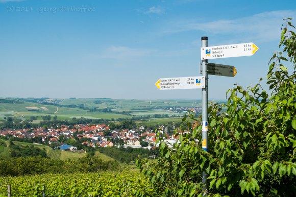 Ausblick auf den Ortsteil Elsheim - Bild Nr. 201406080661