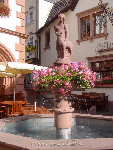 Lohr am Main: Brunnen vor dem alten Rathaus - Bild Nr. 201407150179
