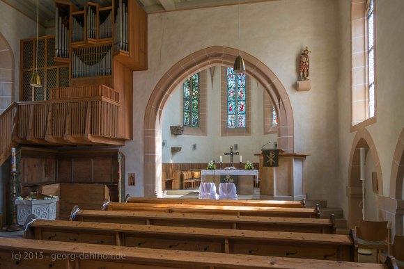 Bergkirche Udenheim - Innenansicht - Bild Nr. 201508292837