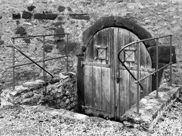 Kellereingang, Ruine Landskron, Oppenheim