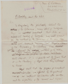 First page of Calderon's draft letter to the press, 5 October 1914