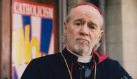 "On the set of ""Dogma"" as Cardinal Ignatius Glick, 1999"