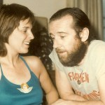 George and Brenda Carlin at home in the 1970's