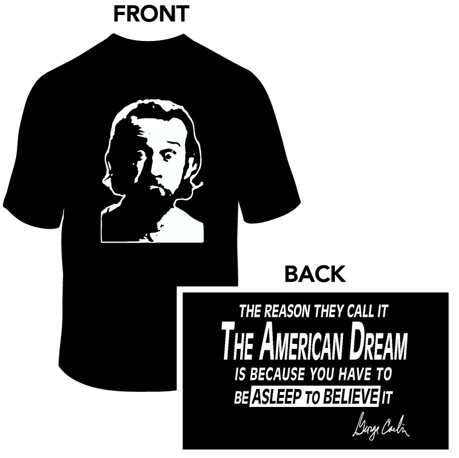 TTSirop George Carlin Quote American Dream Print Mens T Shirt Slim Fit Novelty Summer Outfit Tank Tops