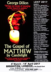 2017, The Gospel of Matthew by Candlelight - Lent tour