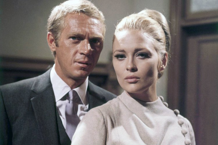"Steve McQueen and Faye Dunaway on the set of ""The Thomas Crown Affair"" (1968). Image by © Cat's Collection/Corbis"