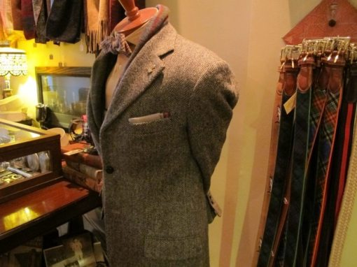 A vintage Abercrombie & Fitch Harris Tweed jacket (for display)