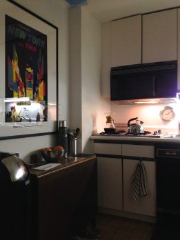 A glimpse at the kitchen.
