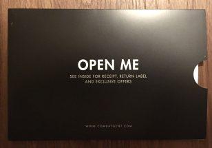 An envelope inside the box.