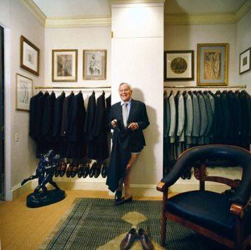 Bill Blass gets dressed in his closet