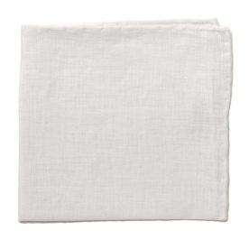Linen pocket square with white border