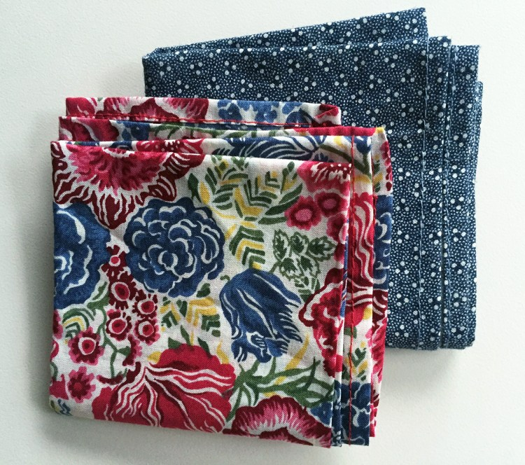 My pocket squares from General Knot & Co.