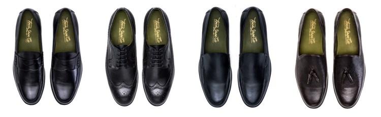 Osbourne (a penny loafer), Boynton (an oxford wingtip), Arthur ( a traveler slip-on) and Andrew (a tassel slipper).