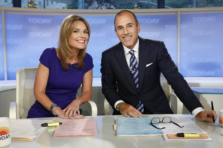 Matt Lauer (with Savannah)