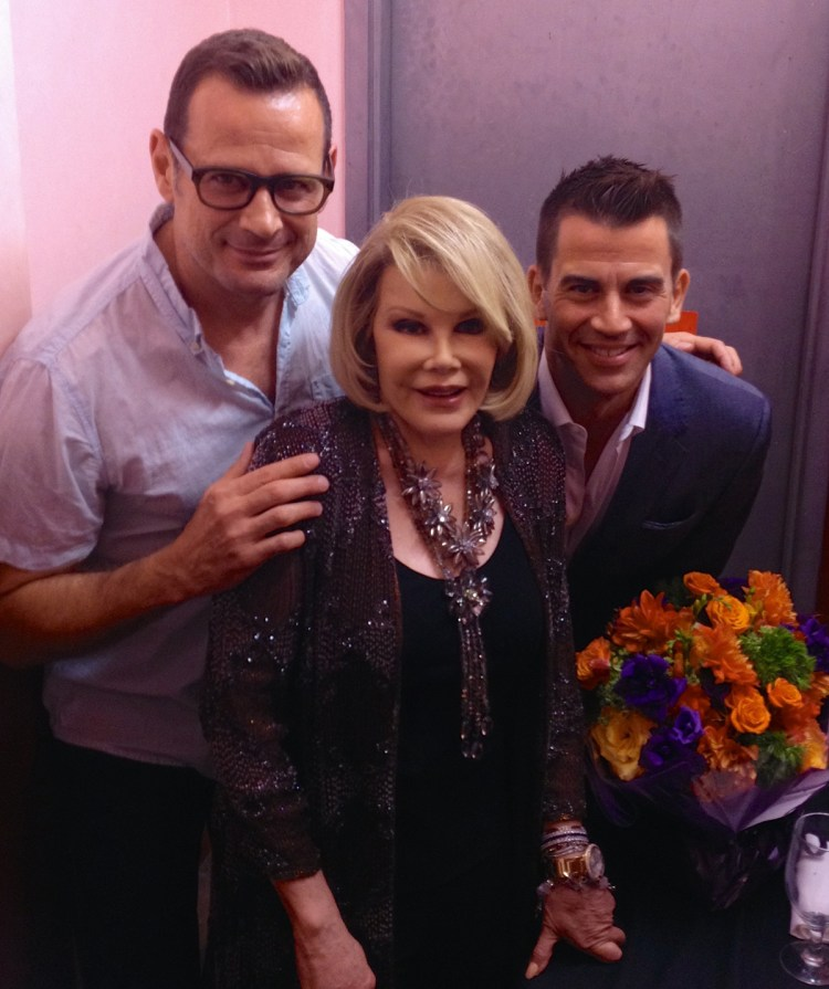 Backstage with Joan at the Laurie Beechman with my friend Rob Mandolene.