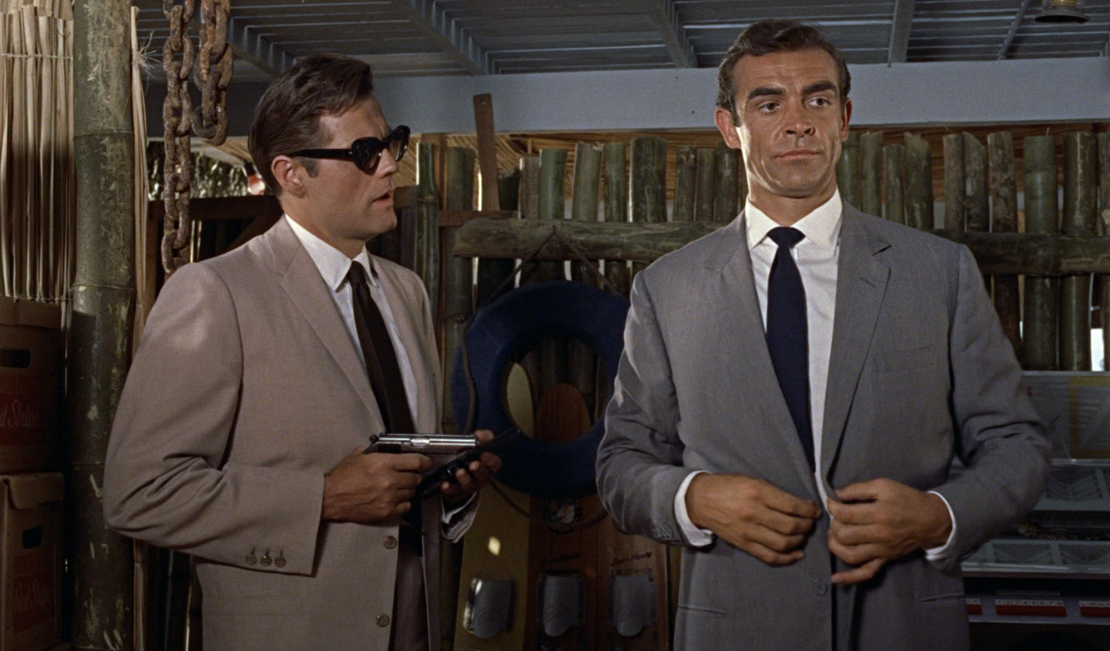 """Sean Connery (right) in """"Dr. No"""" (1962)"""