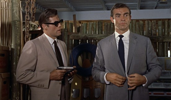 "Sean Connery (right) in ""Dr. No"" (1962)"