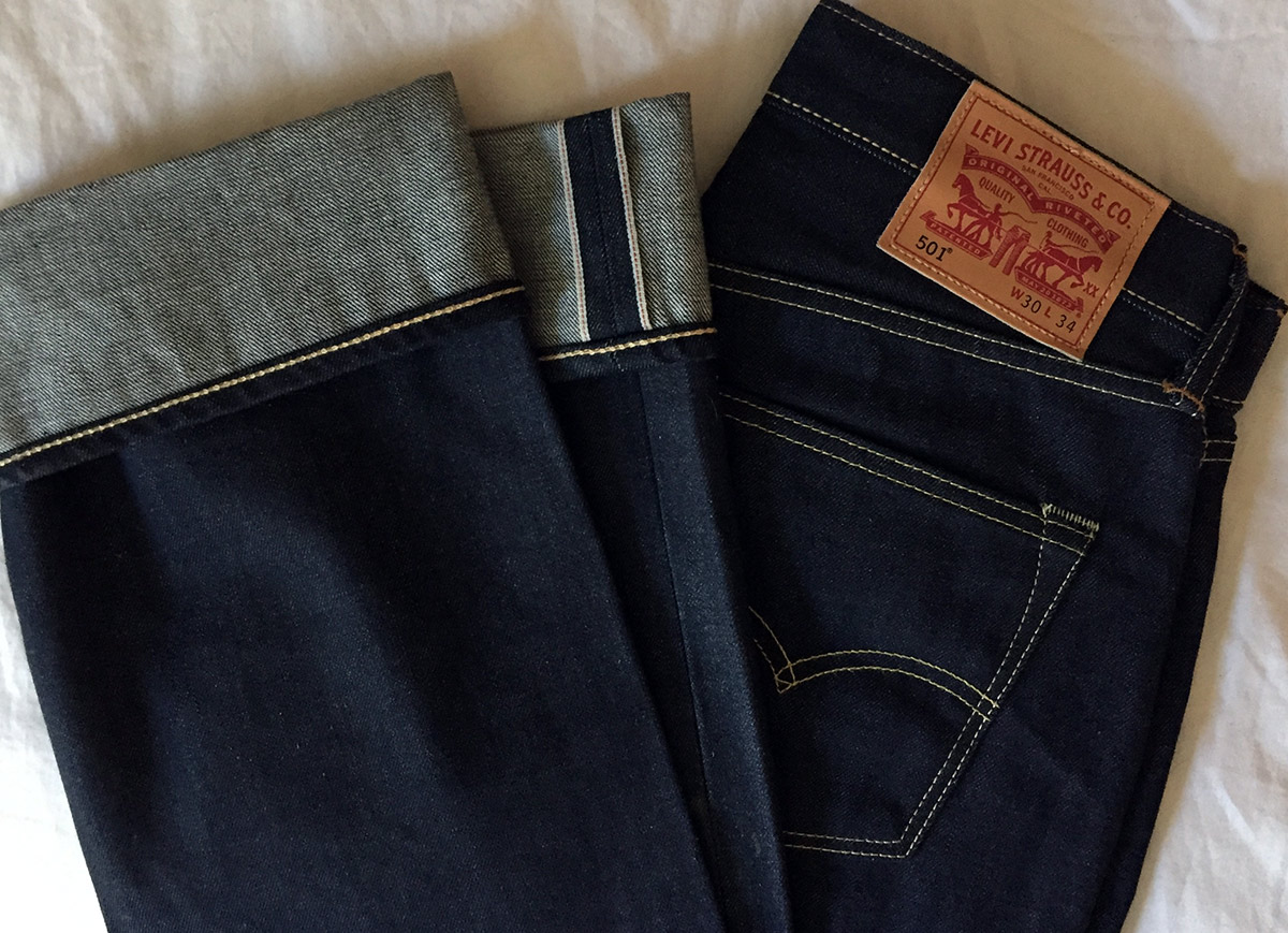 A New Pair Of Levis 501 Shrink To Fit Selvedge Jeans George Hahn