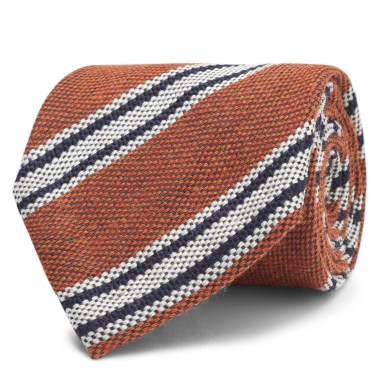 Orange Stripe (wool/silk(