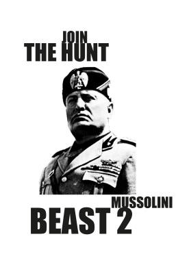 Mussolini poster template