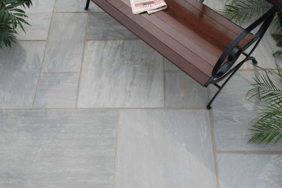 castle grey natural stone patio pack