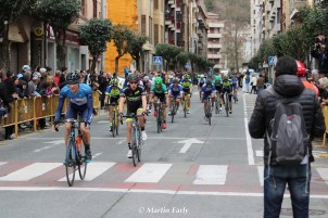 At the finish in Estella