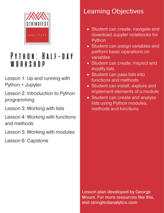 Python: Half-day workshop