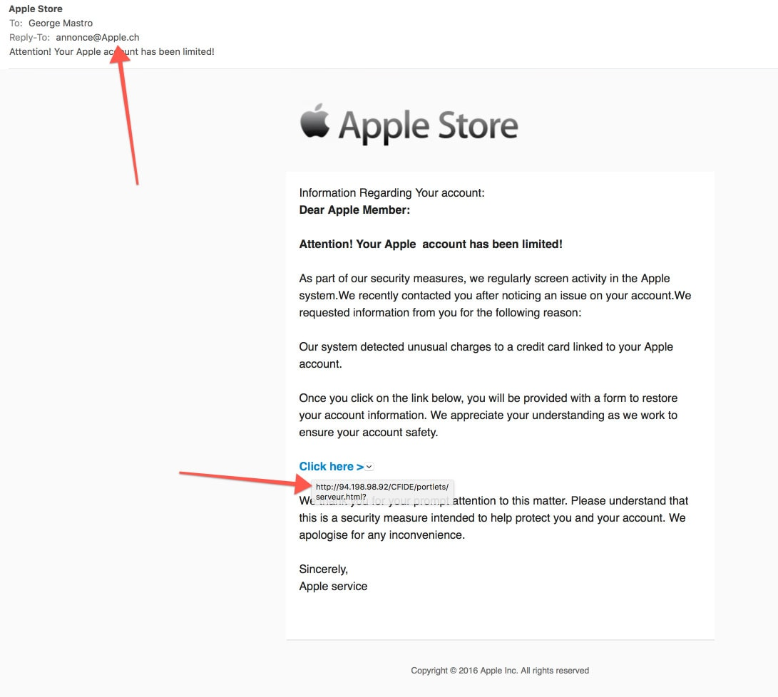Be Apple For Fraud fake E-mails – Careful George Mastro