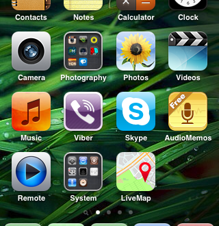 iPhone 3GS screenshot