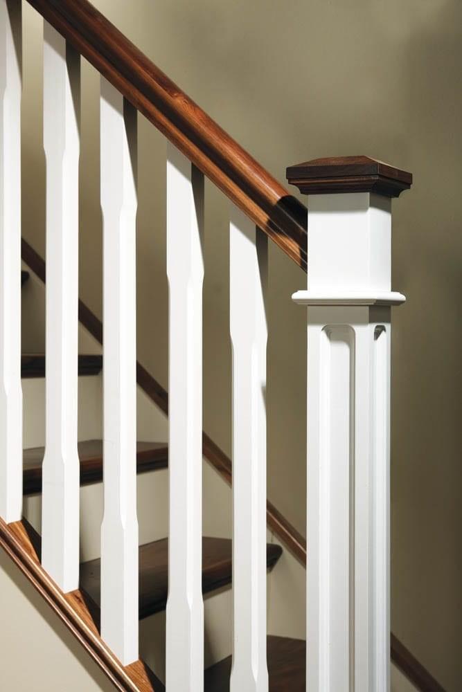 Stair Newel Post Cap Pine Pyramid Newels | Newel Post Cap Designs | White Oak | Decorative | Strong | Porch | Diy