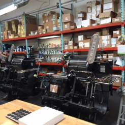 A well-maintained letterpress is crucial to the high-quality products created by Elum Designs.