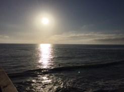 Sunset arrives at Oceanside.