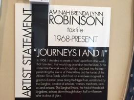 Artist statement at National Underground Railroad Museum.