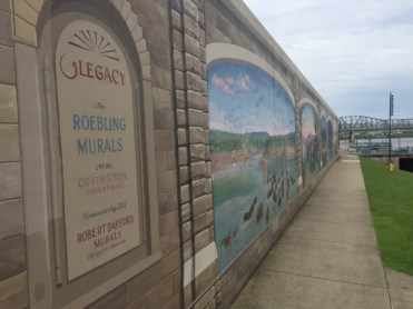 The Roebling Murals at the Covington Waterfront depict the history of this northern Kentucky city.