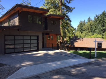 One of several new homes recently completed or under construction.
