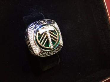 A perk of working in the Timbers' front office? Your own 2015 Major League Soccer championship ring.