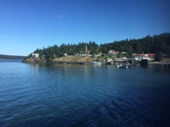 View of Orcas Landing from the MV Yakima ferry.