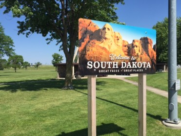 Welcome sign at a South Dakota rest stop.