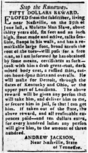 Jackson-RewardNotice-EscapedSlave-1804