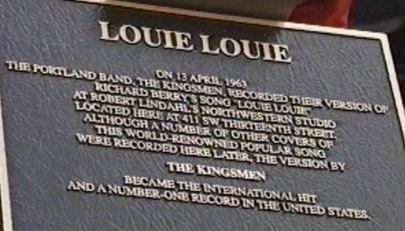 "The Ironic ""Louie Louie"""