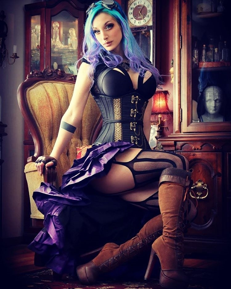 Steamy punk! regram @katopunk @_d_punk 's very first attempt at photography went down very well! Huge thank you to @alternate.history.photography for giving a workshop and letting me be a part of it. #Kato #steampunk #steampunkcouture #bluehair #cagebra #corset #goth #books #book  #reading #reader #page #pages #paper #instagood #kindle #nook #library #author #bestoftheday #bookworm #readinglist #love #photooftheday #imagine #plot #climax