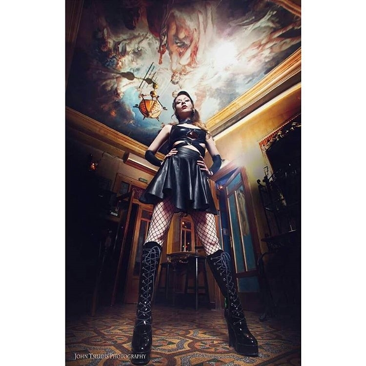 Shoutout to the lovely cosplayer  @irene_astral . Follow her and enjoy! Perspective *Daily Deviation Award on DeviantArt* By John Tsilidis Photography Model, MUAH, Styling by: Irene Astral Accessories: AstralWork Creations Many thanks to the owner of GHOST HOUSE for letting us shoot in his awesome place! ^_^ #gothic #alternative #ceiling #boots #leather#art #tbt #colors #black #beauty #hair #makeup #nails #fashion #chic #cities #shoes #happy #love #fitness #summer #photography #photooftheday #instalike #instadaily #instafollow #instaphoto