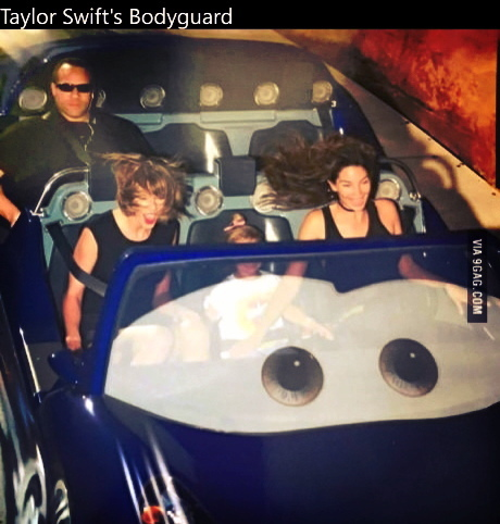 The guy who's Taylor Swift's bodyguard, has to a) go on Cars rides with her. Every-single -time. 😞 b) look at that cool guy 😎 this is the highpoint of the ride, tested and planned by engineers to catch a snapshot of you just as you cringe and squeal like a sacrificial pig. The dude is so chill. I got a photo from Disneyland just like that. #taylor #swift #taylorswift #music  #bodyguard #country #singer #singing #song #instagood #swifties #sweet #cute #beautiful #love #girl #pretty #swiftie #flawless #photooftheday #awesome #tswift #lovesong